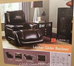 costco 727756 simon li leather glider recliner chair great for any home