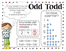 Even And Odd Anchor Chart Odd Todd Even Steven Lessons Tes Teach