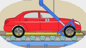 Мультик - Раскраска. Учим Цвета - Как делают легковые <b>машины</b> ...