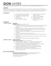 Sample Resumes Examples Best First Time Resume Samples Sample Resume For Nanny Nanny Resume
