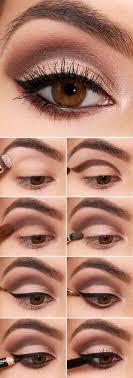 brown cut crease and black eyeliner