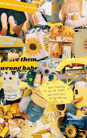 aesthetic #yellow #collage #wallpaper ...