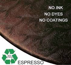 elastic edge round fitted vinyl tablecloth 36 to 46 espresso brown sculpted
