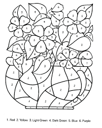 Number Coloring Worksheets Coloring Pages By Number Also Free ...
