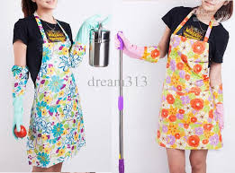 kitchen apron. 17pcs pvc home kitchen apron pastoral style craft commercial restaurant kitchen bib aprons pinafore