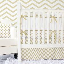 gold chevron crib bedding from caden lane