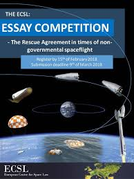 ecsl essay competition ecsl european centre for space law  essay competition poster