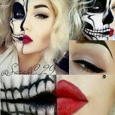 makeup half face
