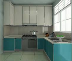 For L Shaped Kitchen Mint Blue Paint Wall Color L Shaped Kitchen Design Ideas Cool