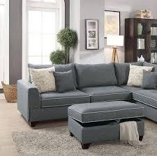 poundex f6542 sectional sofa set 3 pcs
