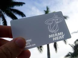 Miami Heat Business Card Perfect For Their Brand White Plastic With