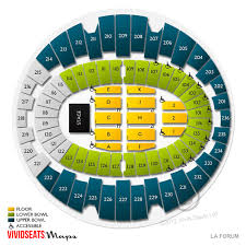 Los Angeles Forum Concert Seating Chart La Live Concert