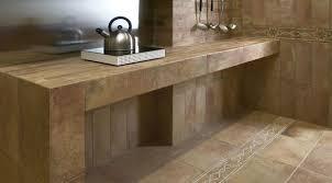 modern italian tile on kitchen countertop