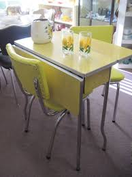 yellow 1950s ed ice formica table and chairs faindsblog intended for 1950 kitchen table and chairs