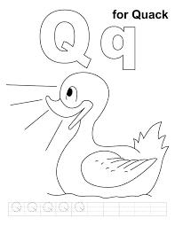Preschool Coloring Pages Letters Q Coloring Page Letter Q Coloring