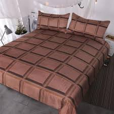 chocolate bar bedding super soft funny bed sets 3d realistic giant chocolate duvet cover for boys girls duvet queen white duvet set from bluesky11