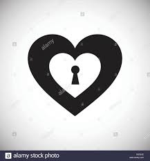 Pad Website Design Heart Pad Lock Icon On White Background For Graphic And Web