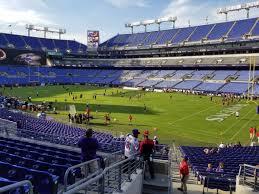 Ravens Stadium Interactive Seating Chart M T Bank Stadium Section 120 Baltimore Ravens