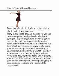 Dance Resume Dance Resume Template Inspirational Child Audition Resume Sample 49