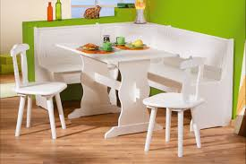 Dining Tables, Astounding White Rectangle Rustic Wooden Corner Dining Table  Set Stained Design: best ...