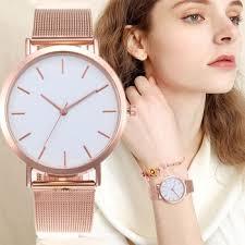 <b>Women's Watches</b> Rose Gold Simple <b>Fashion Women</b> Wrist Watch ...