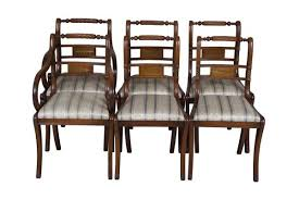 What A Beautiful Set Of Brass Inlaid Regency Style Dining Chairs Regency Furniture Y78