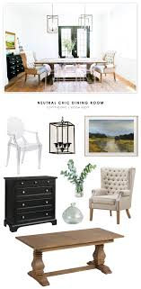 a neutral chic dining room featured in domino gets recreated for less by copy cat chic
