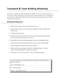 Describe Teamwork Teamwork And Team Building Workshop