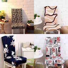 removable elegant dining room chair cover spandex elastic stretch chair seat computer kitchen deco