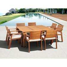 wood patio dining furniture. Exellent Furniture Atlantic Contemporary Lifestyle Nelson 9Piece Square Eucalyptus Wood Patio  Dining Set With Off In Furniture M