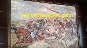 mosaic wall decor: marble mosaic wall art arab marble mosaic wall art arab warriors