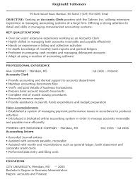 16 Free Sample Accounting Clerk Resumes Best Resumes 2018