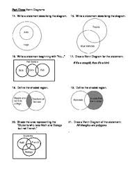 Venn Diagram In Logic Geometry Unit 2 Logic Symbols And Venn Diagrams Worksheet
