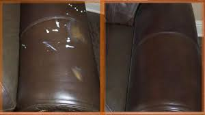 errant paint on a brown leather chair