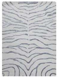 bakero zebra rug silver contemporary floor rugs by the rug retailer