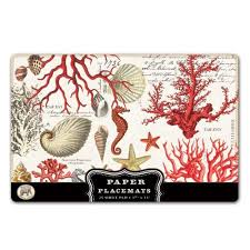 <b>Michel Design Works</b> Placemats Red Coral 25 Sheet - Karl ...