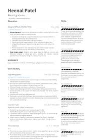Chemical Engineering Internship Resume Samples Printable Engineering