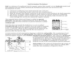 Soil Formation Worksheet Worksheets for all | Download and Share ...