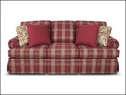 plaid sofa farmhouse living room furniture