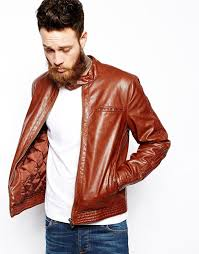 asos brand faux leather biker jacket