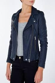 blue leather jacket iro blue tara navy leather jacket