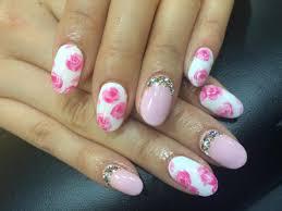 春ピンク花柄ネイル アート柄4本コース 左右合計4本のペイント
