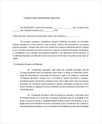 Client Confidentiality Agreement Template New Free Confidentiality ...