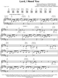 lord i need you sheet music