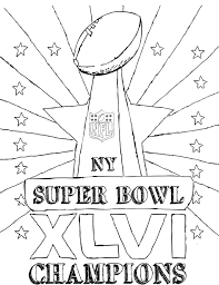 Super Bowl Champions Coloring Page