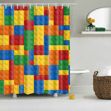 colorful shower curtains. Colorful Lego Blocks Curtains Waterproof Bathroom Polyester 180x180cm Decoration With Hooks Shower