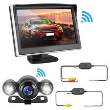 wireless 5 inch <b>170 degree car rear view</b> lcd monitor kit reverse ...