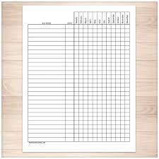 Bill Payment Tracker Log Full Year Printable At Printable
