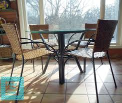 Rattan Kitchen Furniture Paint Rattan Table Update Stain Chair Nicer Than New