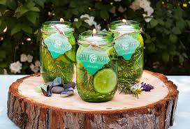 diy floating citronella candle with personalized favor tags from evermine evermine com